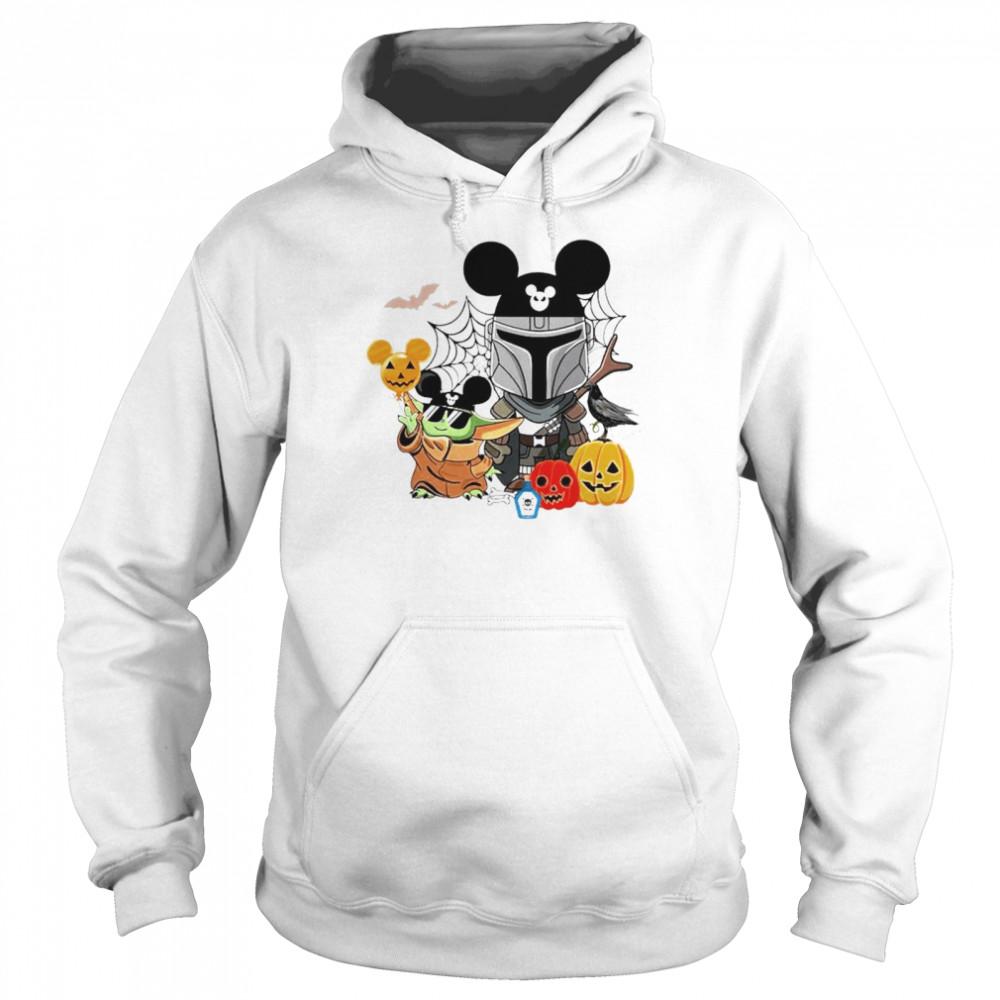 Mickey and Baby Yoda mashup Darth Vader happy Halloween shirt Unisex Hoodie