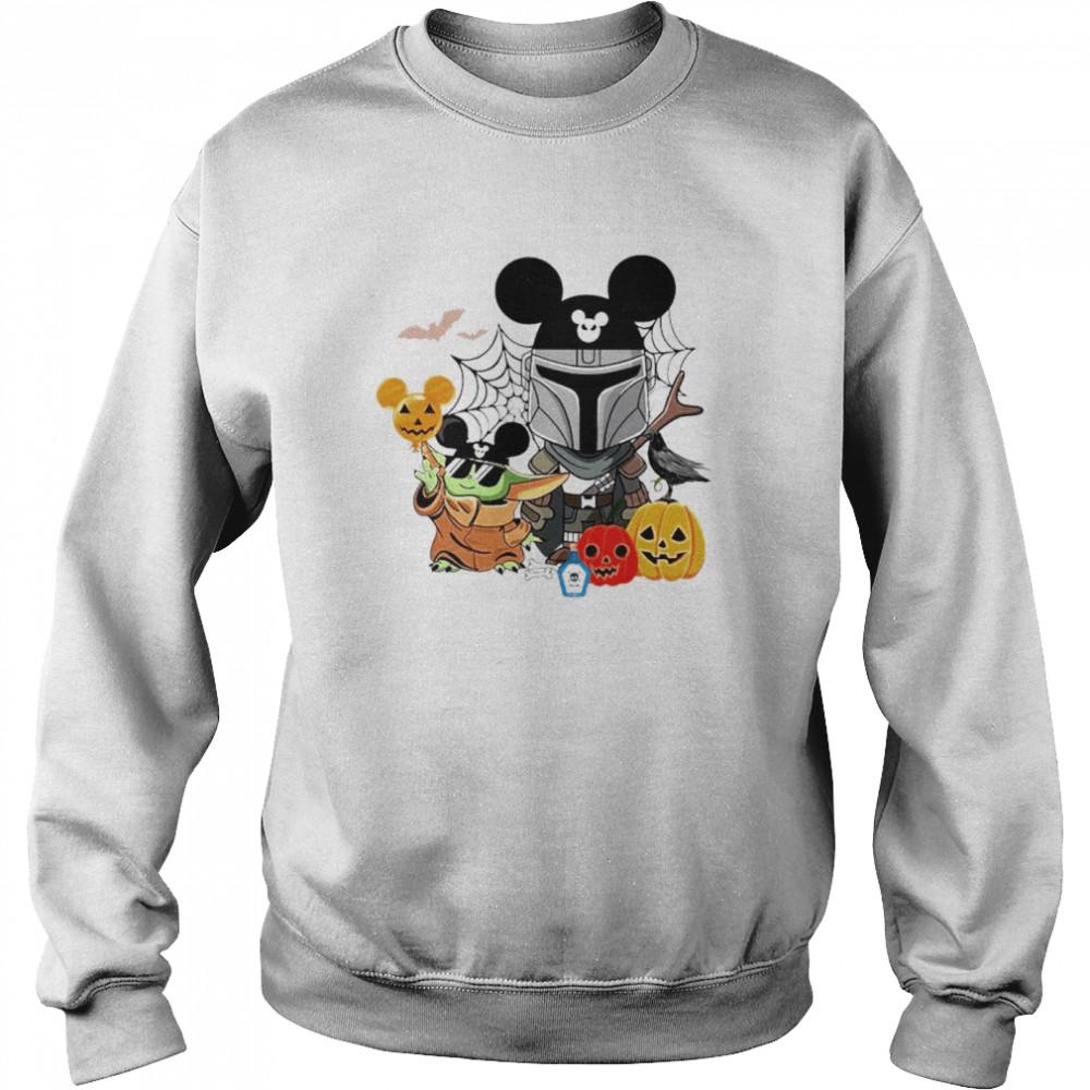 Mickey and Baby Yoda mashup Darth Vader happy Halloween shirt Unisex Sweatshirt