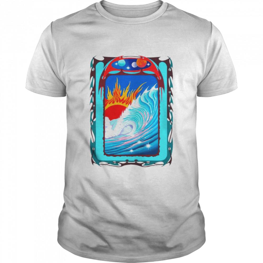 Wave Surreal and Sun shirt