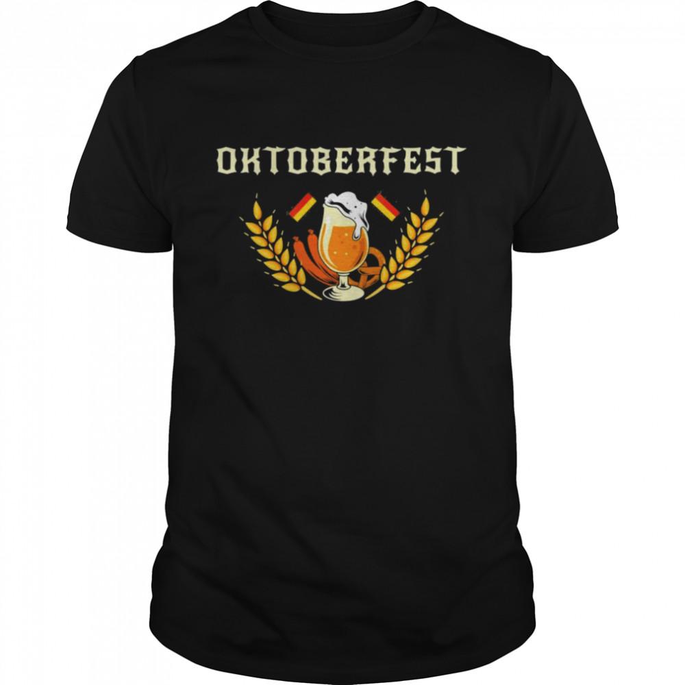 Oktoberfest German Flag Beer Festival Sausage Vintage Shirt