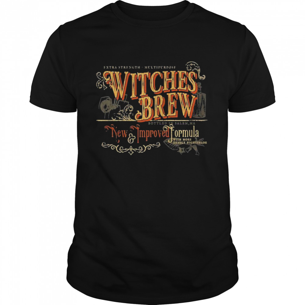 Witches Brew New Improved Formula Halloween  Classic Men's T-shirt