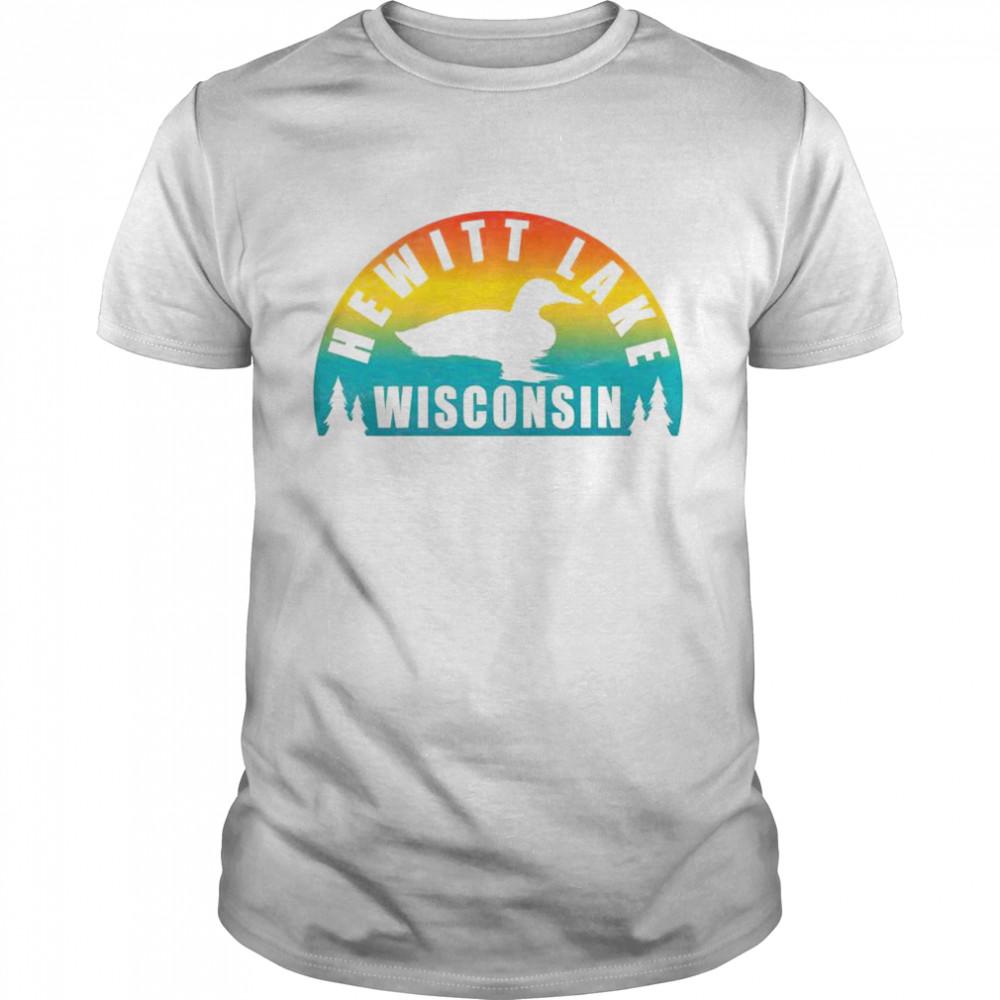 Hewitt Lake Northern Wisconsin Sunset Loon  Classic Men's T-shirt
