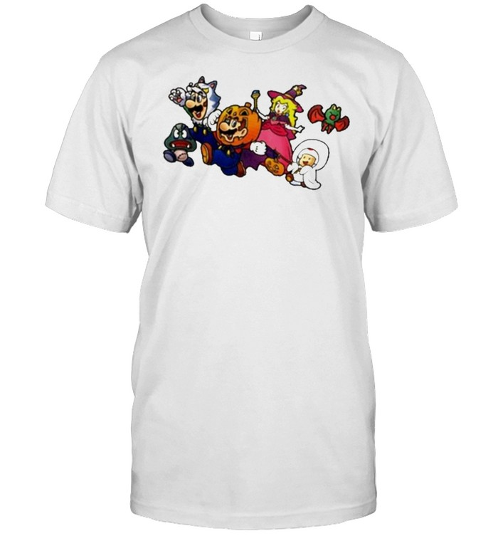 New Super Mario Nintendo Ny Exclusive Halloween Shirt