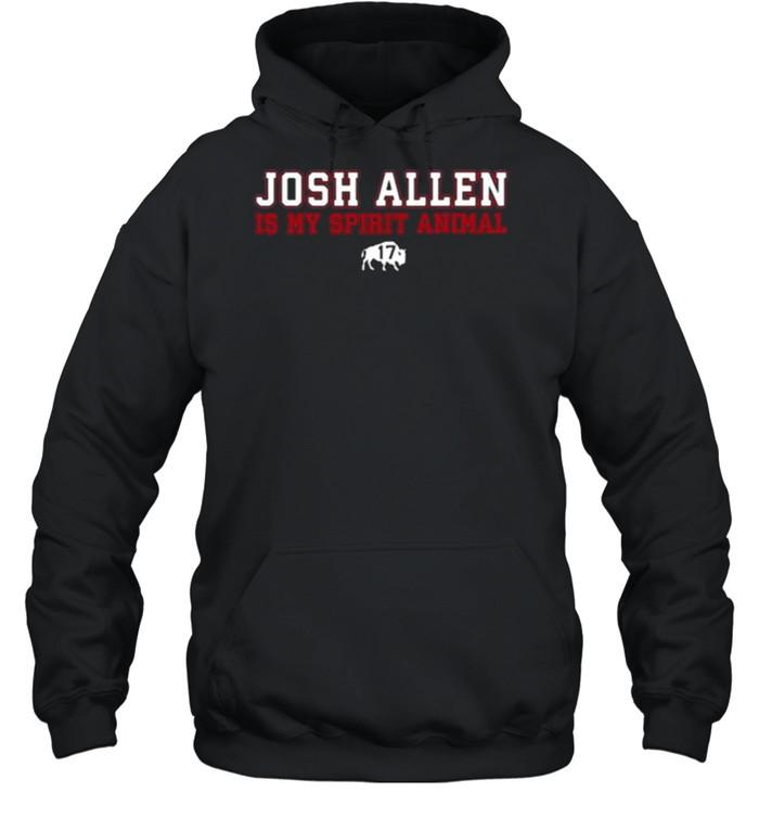 Osh Allen Is My Spirit Animal Buffalo Bills  Unisex Hoodie