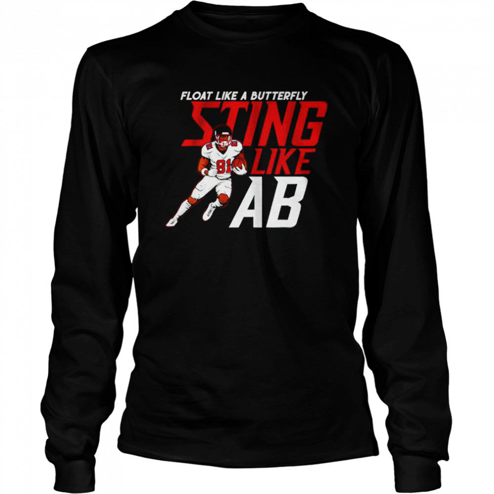 Antonio Brown Float Like A Butterfly Sting Like Ab  Long Sleeved T-shirt