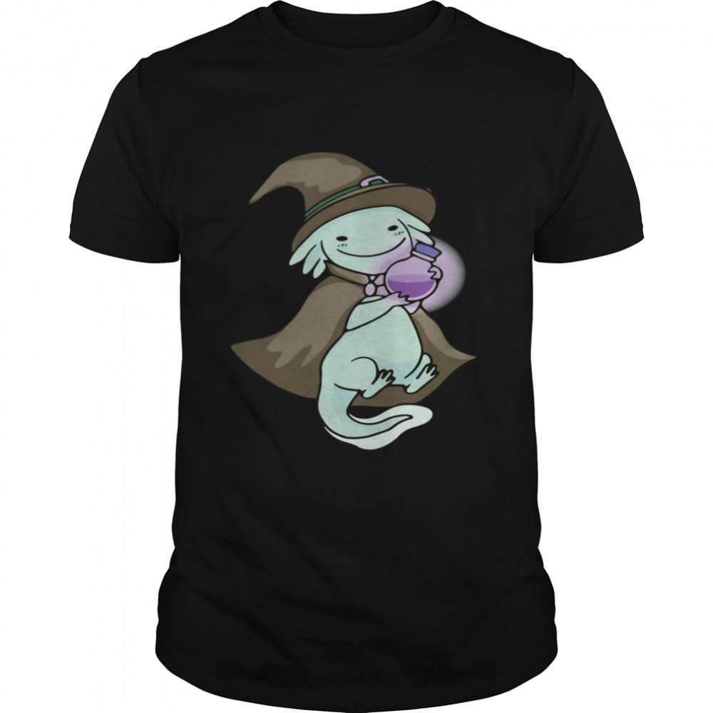 Axolotl Hexe Süßes Axolotl Halloween Kostüm Shirt