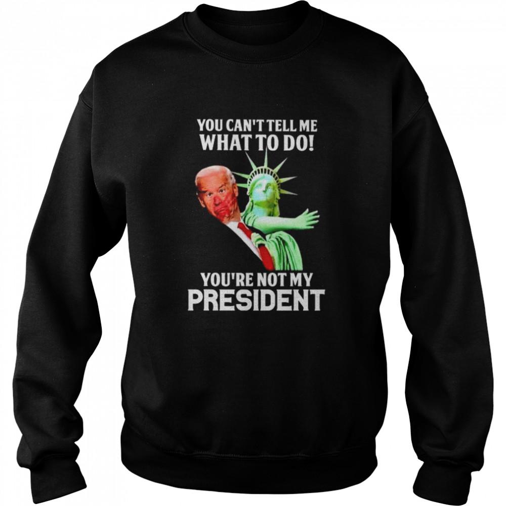 Best liberty slap Biden you can't tell me what to do shirt Unisex Sweatshirt