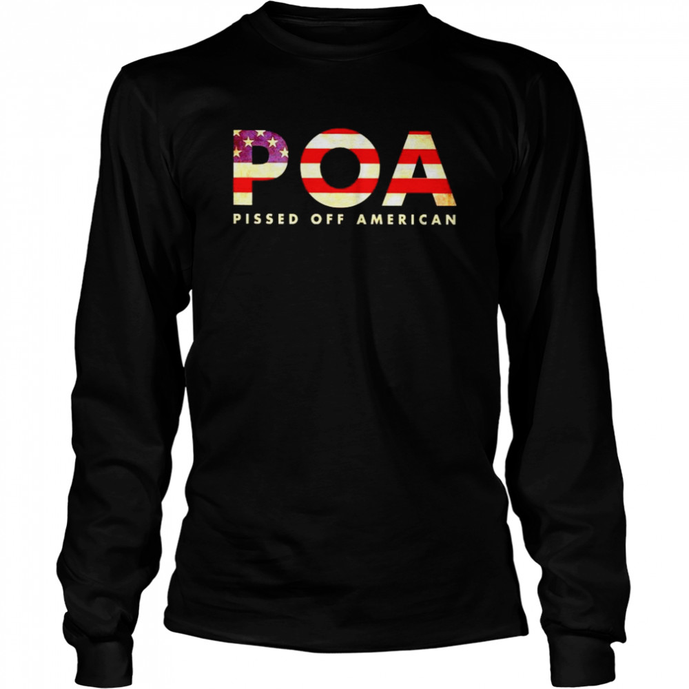 Best pOA pissed off American shirt Long Sleeved T-shirt