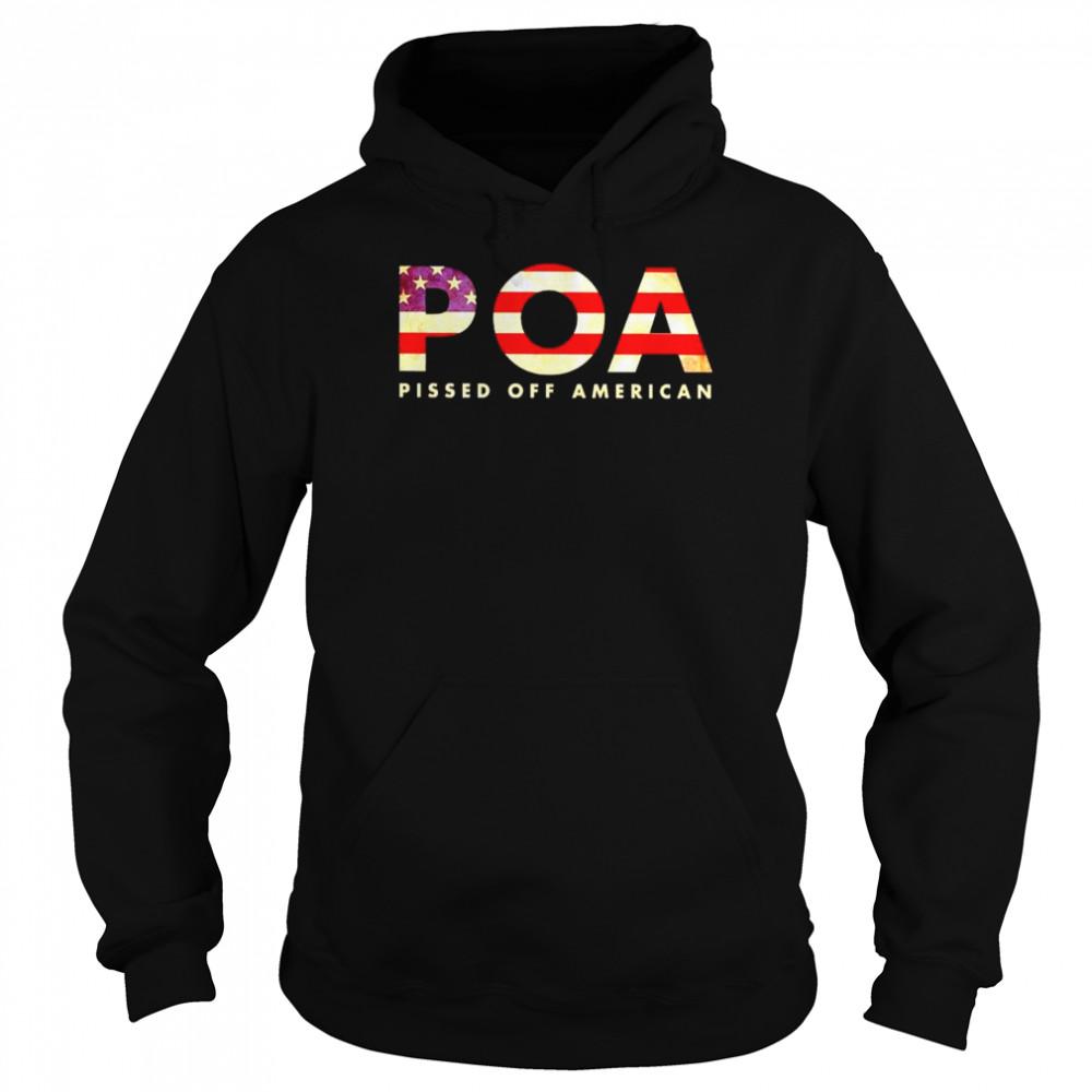 Best pOA pissed off American shirt Unisex Hoodie