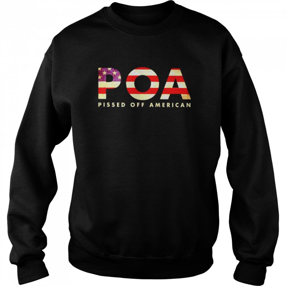 Best pOA pissed off American shirt Unisex Sweatshirt