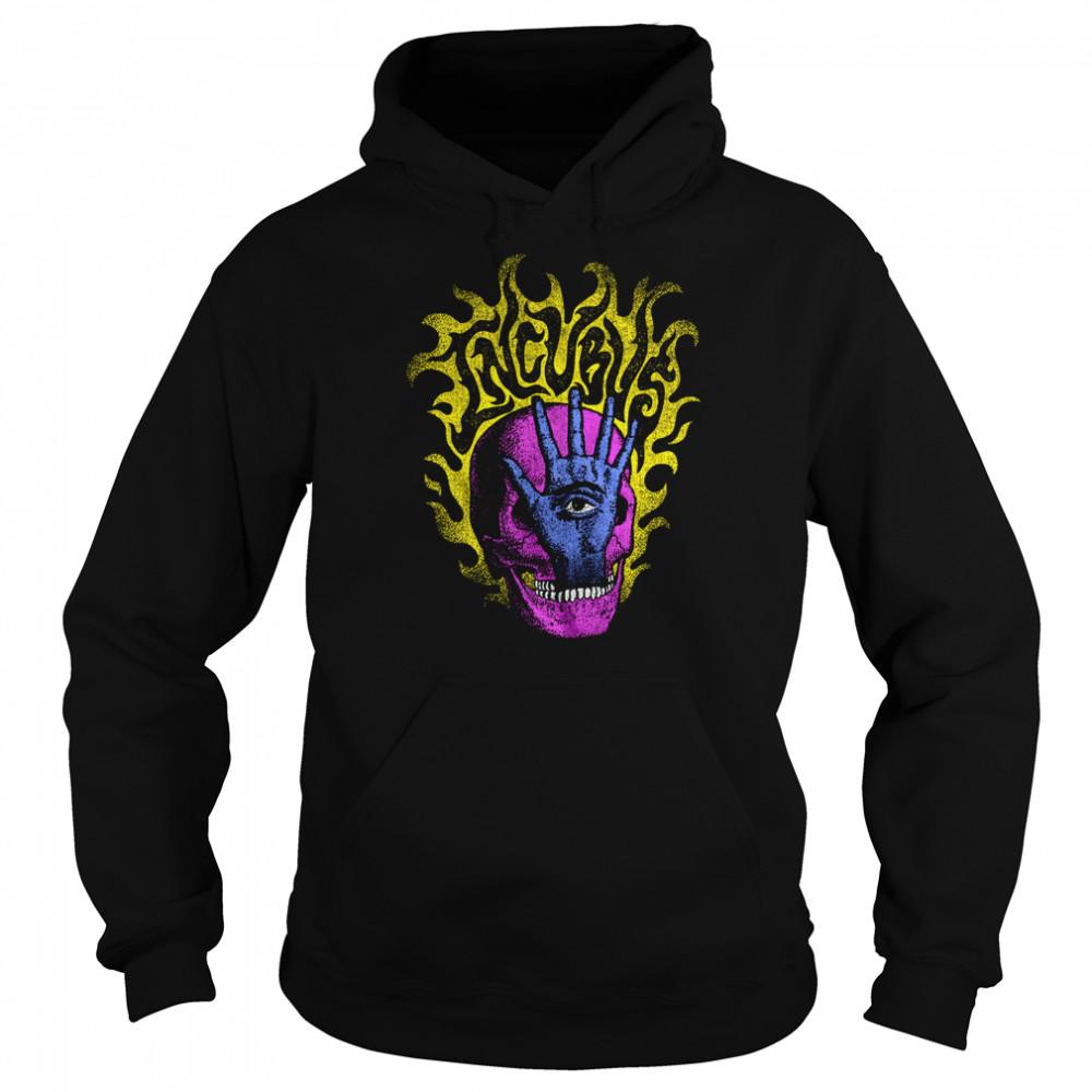 Incubus Flaming Skull Hand shirt Unisex Hoodie