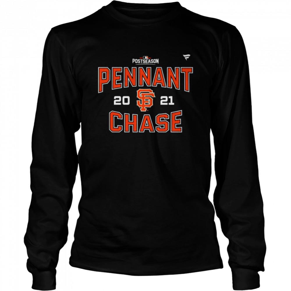 san Francisco Giants 2021 postseason pennant chase shirt Long Sleeved T-shirt