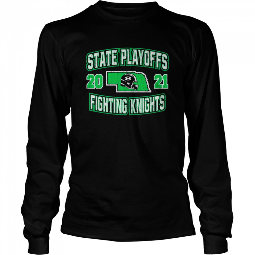 State playoffs 2021 fighting knights shirt Long Sleeved T-shirt