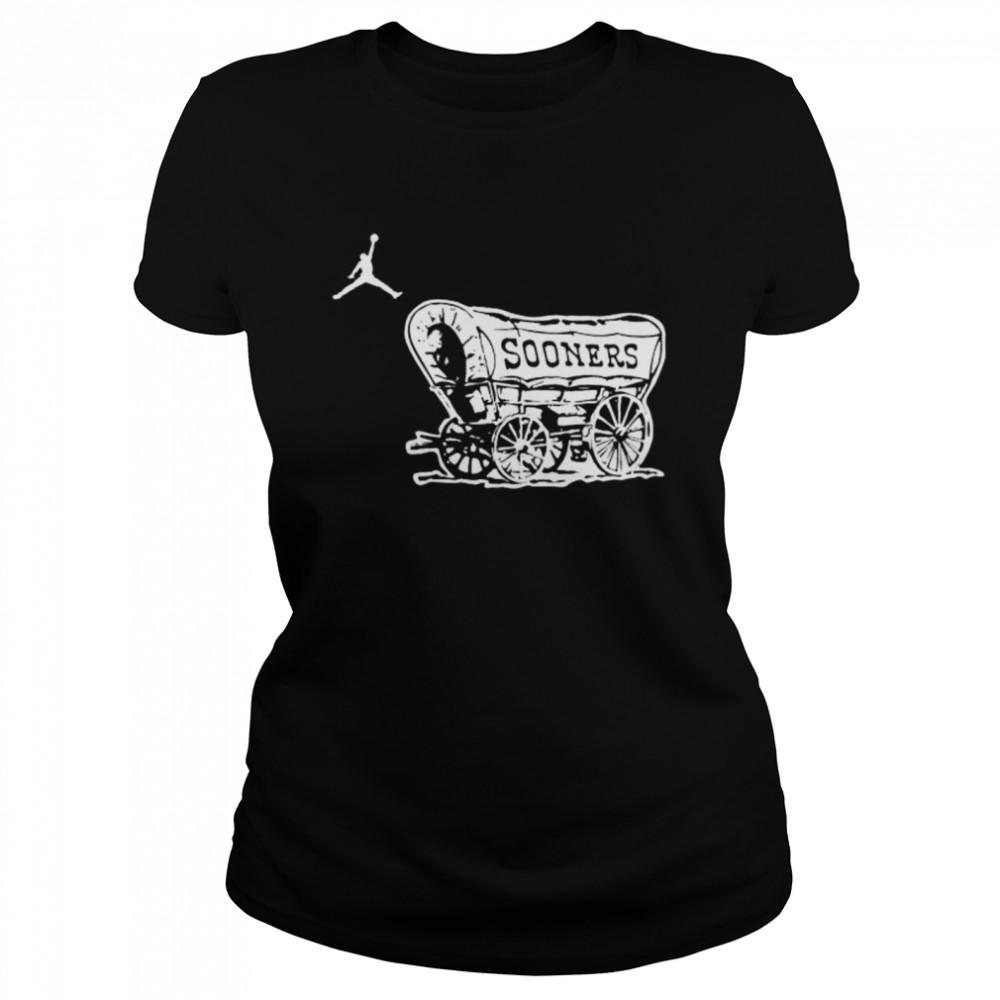 Top oklahoma Sooners football logo jordan shirt Classic Women's T-shirt