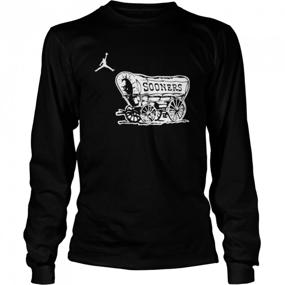 Top oklahoma Sooners football logo jordan shirt Long Sleeved T-shirt
