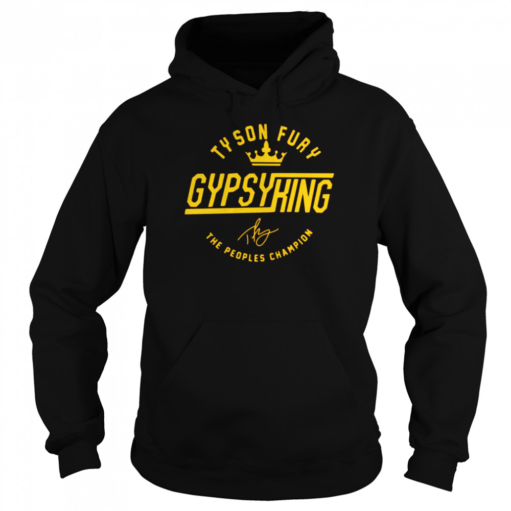 Tyson Fury Gypsy King Signature The Peoples Champion  Unisex Hoodie