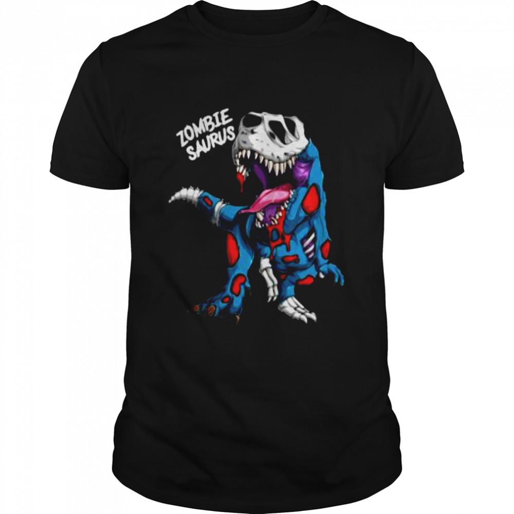 Zombie Saurus Halloween Costume Zombie Dinosaur T Rex Boys T-Shirt