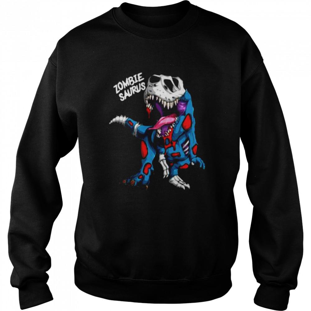 Zombie Saurus Halloween Costume Zombie Dinosaur T Rex Boys T- Unisex Sweatshirt
