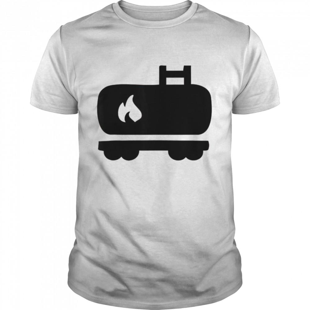 Oil Tank Train  Classic Men's T-shirt