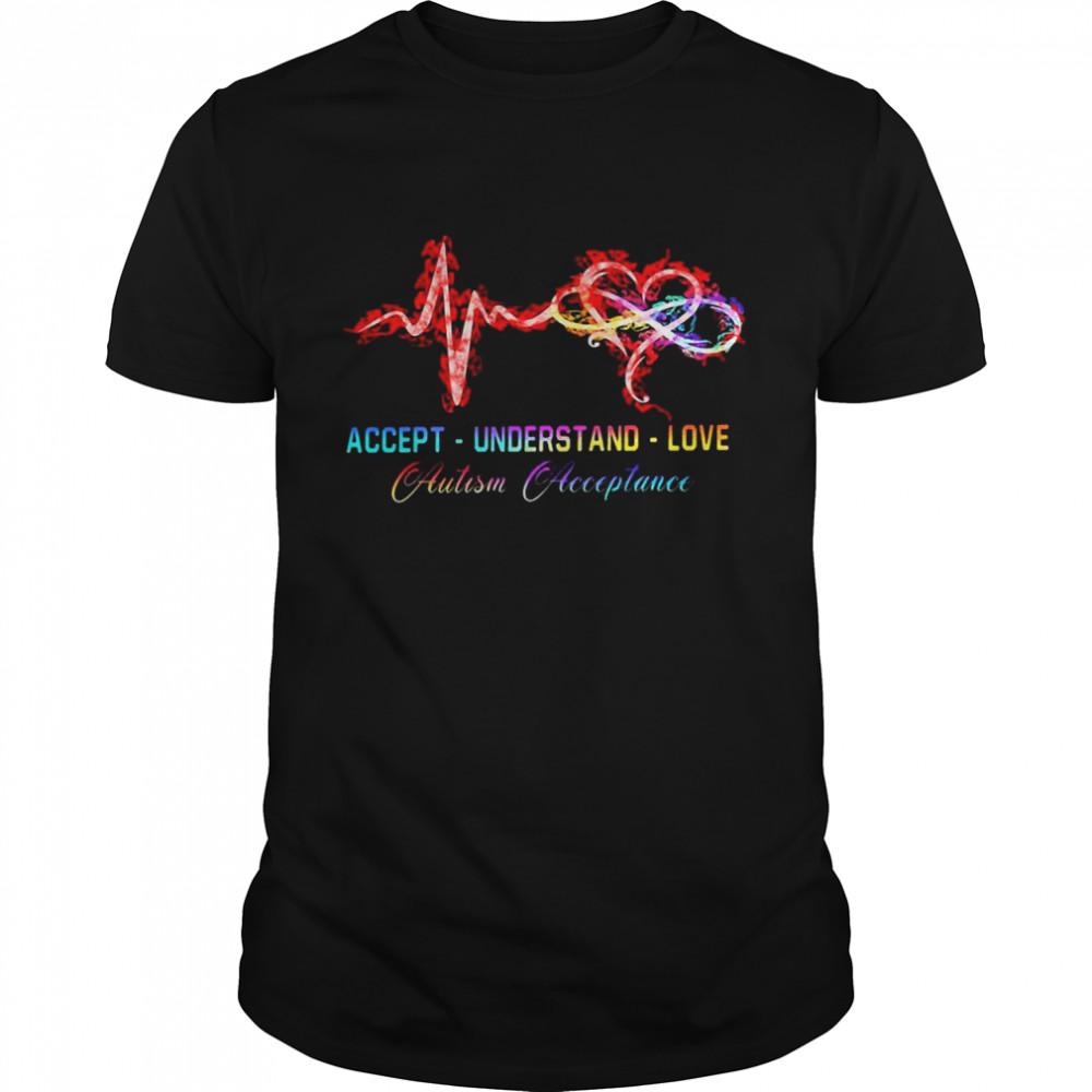 Accept Understand Love Autism Acceptance Shirt