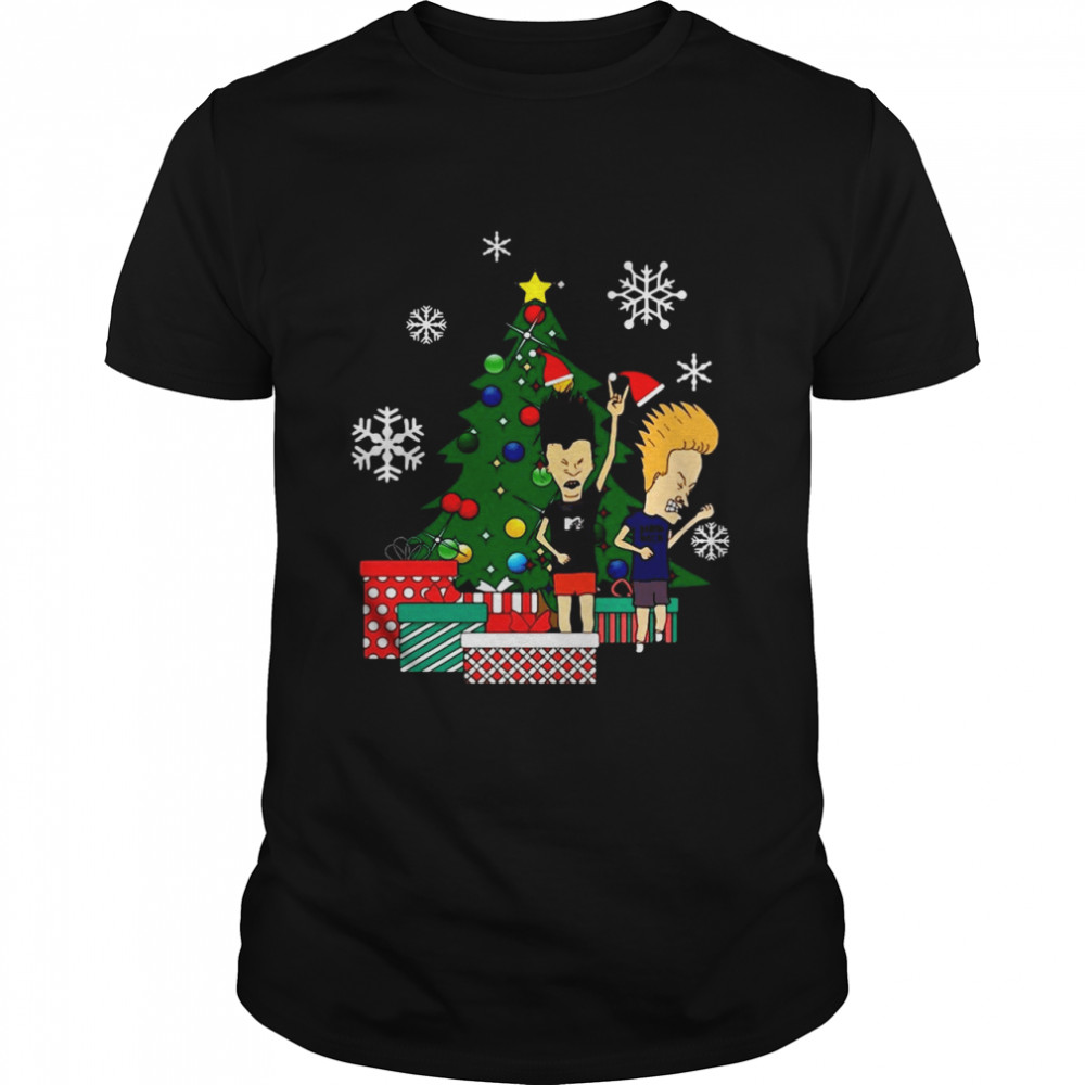 Beavis And Butthead Around The Christmas Tree Essential Shirt