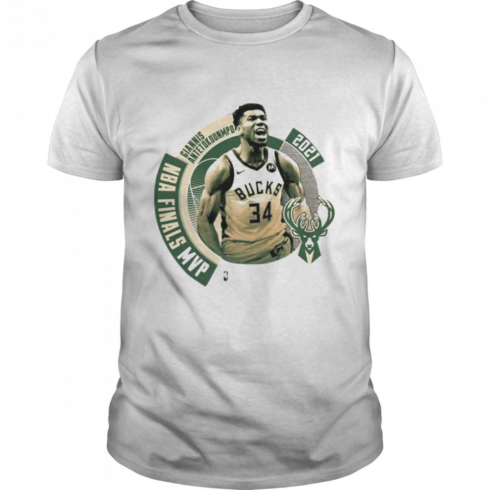 2021 NBA Champions Crossover MVP Milwaukee Bucks T-Shirt