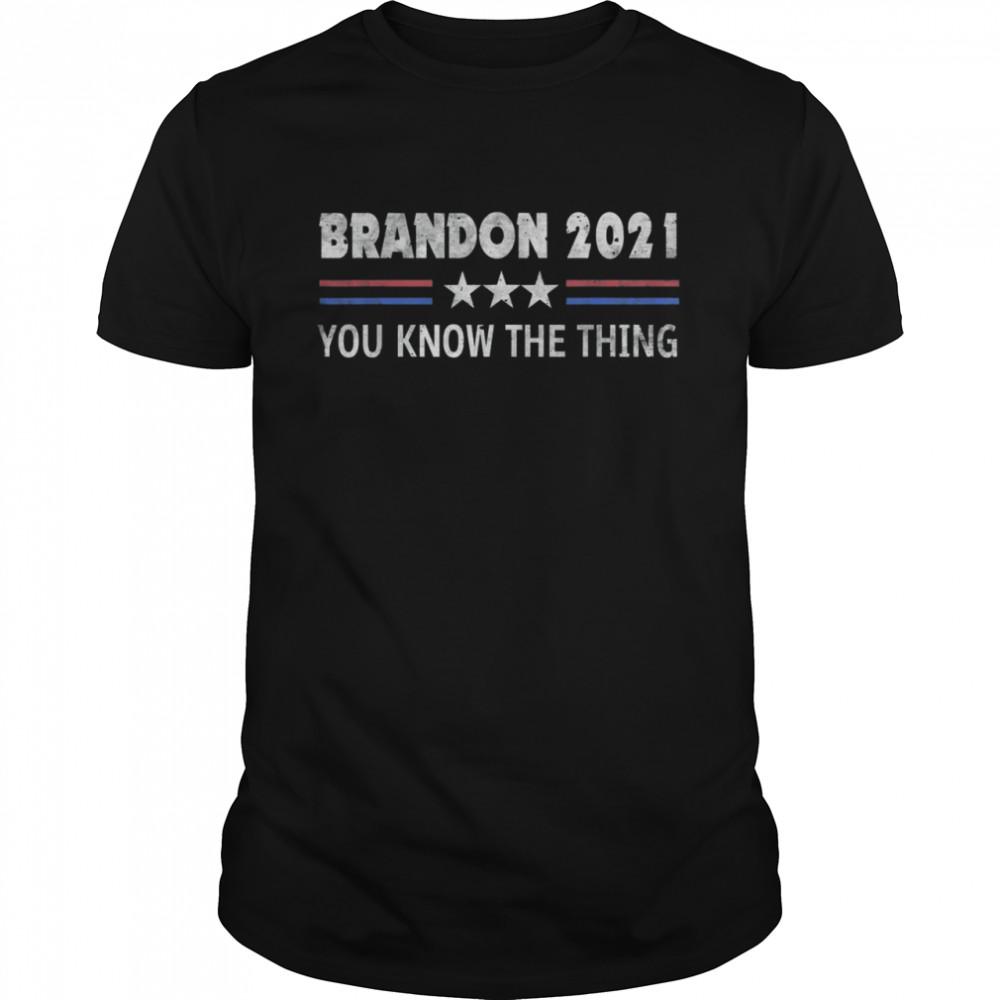 Brandon 2021 Trendy sarcastic Let's GO US Flag 2021 T-Shirt
