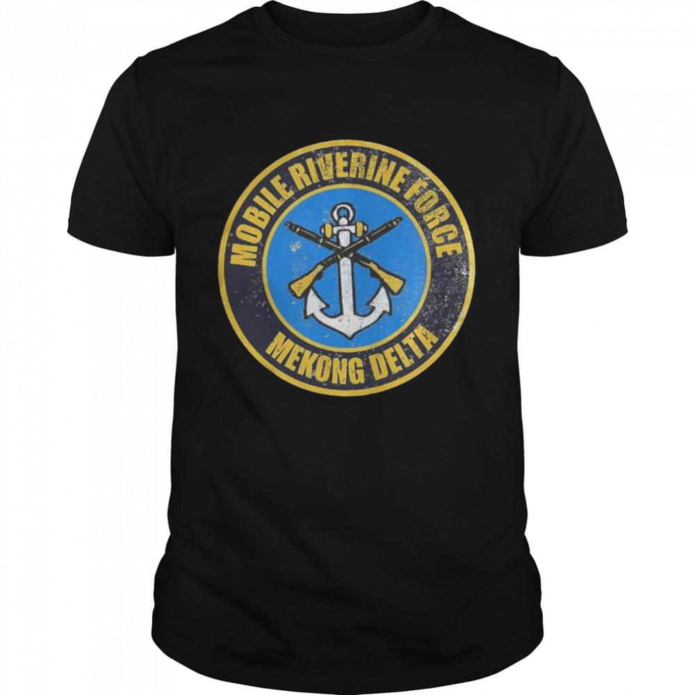 Mobile Riverine Force Mekong Delta Logo Graphic Distressed shirt