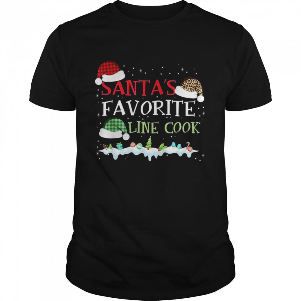 Santa's Favorite Line Cook Christmas Xmas Shirt