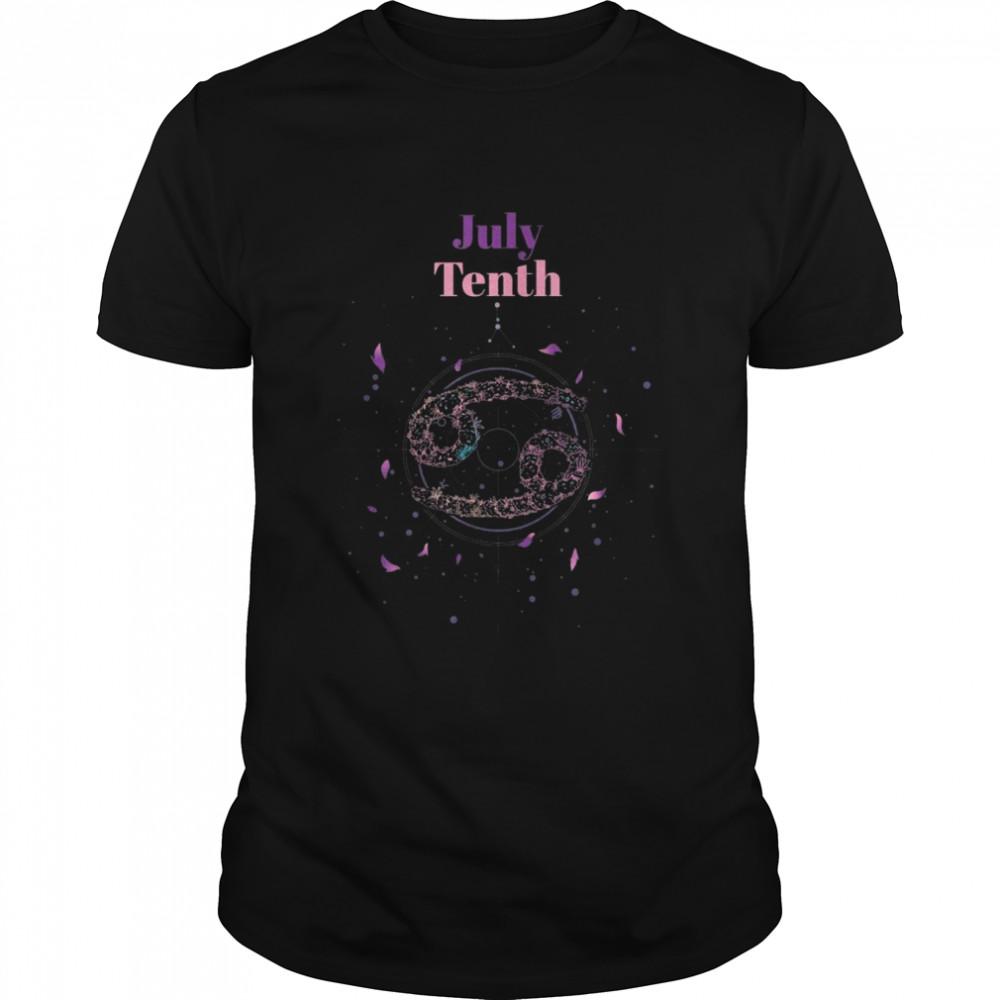 Sternzeichen Krebs 10 Juli Krebse Shirt