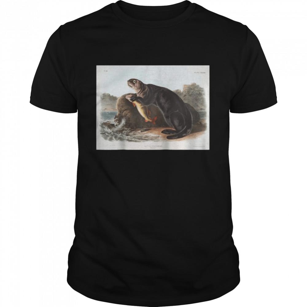 Vintage American Sea Otter Animal Illustration & Shirt