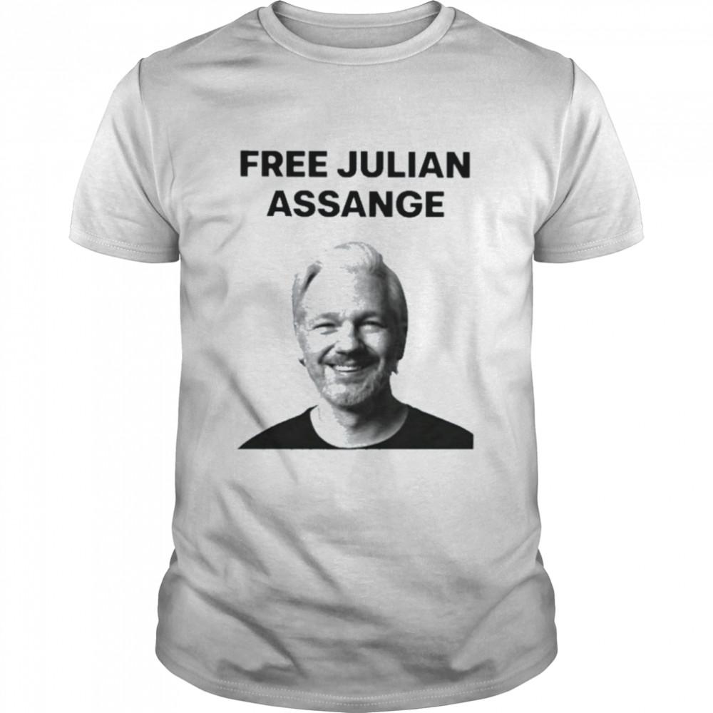 Wikileaks Free Julian Assange Protest Shirt