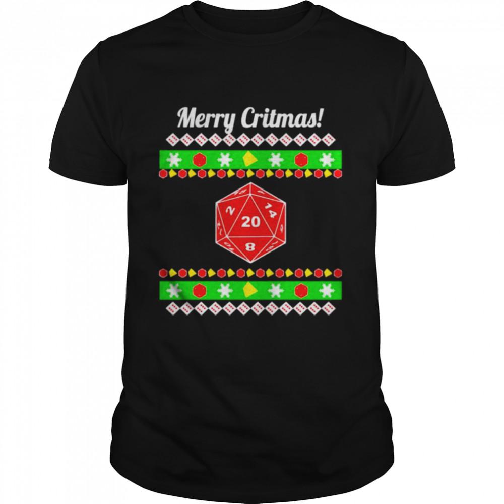 dungeon & Dragon merry critmas Christmas shirt Classic Men's T-shirt