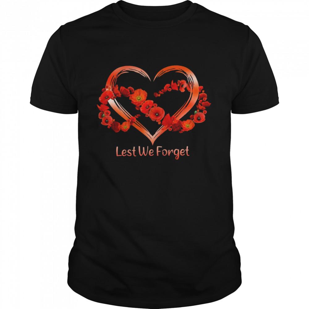 Lest we forget heart shirt Classic Men's T-shirt